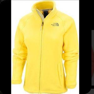 Women's North Face yellow fleece jacket